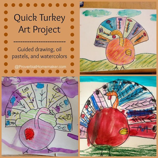 Quick Turkey Art Project by ProverbialHomemaker.com