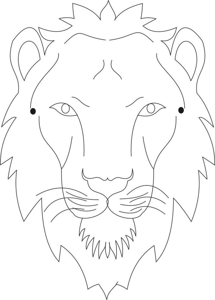 Tiger mask printable coloring page