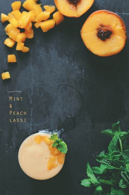 peach with mint lassi drink by abrowntable, via Flickr