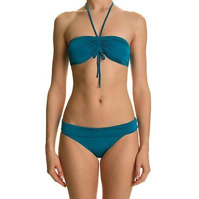 Bikini, sujetador bandeau de baño azul