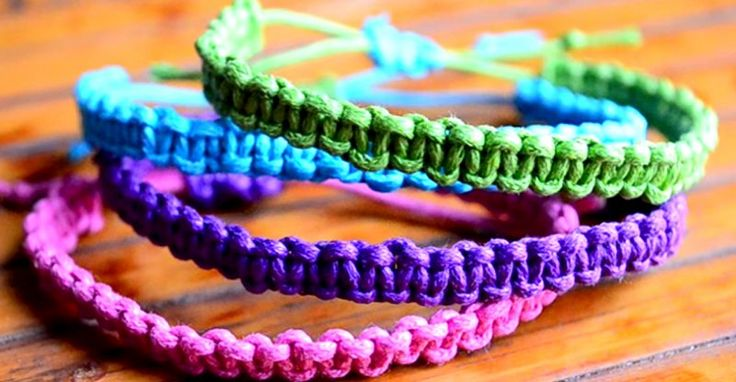 Easy To Make Square Knot Bracelets