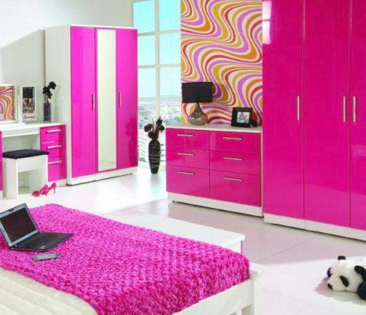 Fuschia pink bedroom