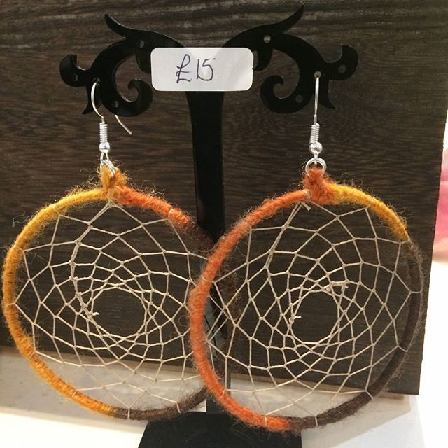New in from April, these dream catcher earrings certainly make a statement! #huddersfield