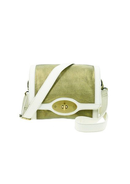 Shopper Shoulder Leather Bag - Ivory / Gold $199.95 #leethal #accessories #fashion