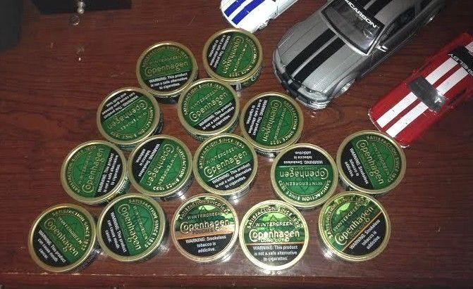 empty smokeless tobacco copenhagen dip cans free shipping