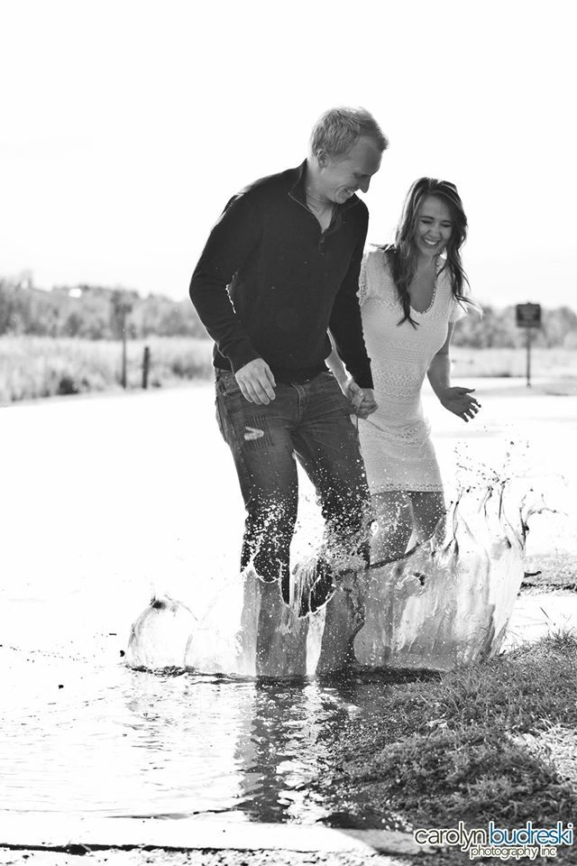 Engagement photo idea - Shoot at the end of a rain storm. Jump in some puddles - have FUN!