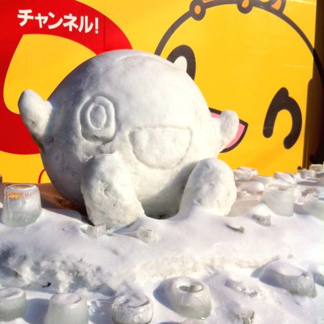 HTB前のonちゃん雪像。Pinterestから投稿してみる。