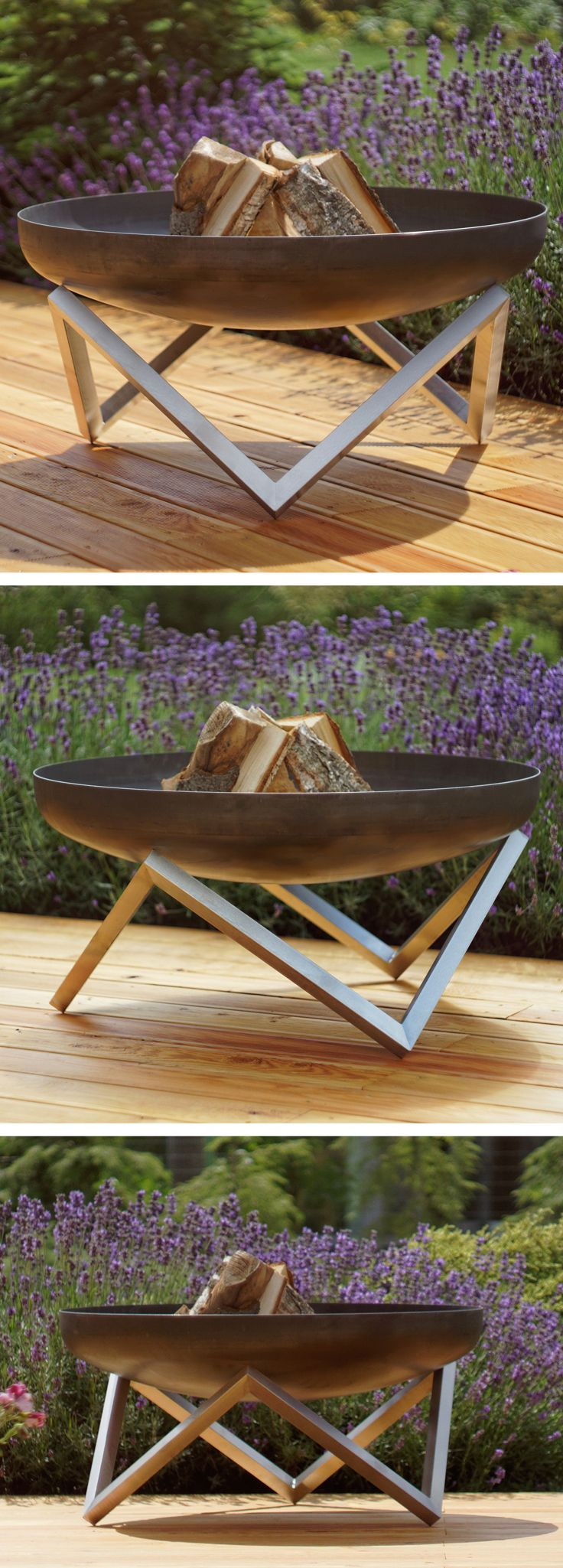 the memel fire pit by curonian deco modern and unique fire pits planters and outdoor furniture for organic integration into contemporary garden and outdoor