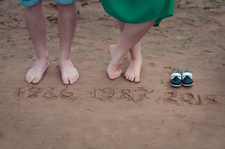 Пляж. Лето. Ноги. Беременность. Семейная съемка