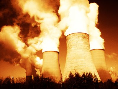 Didcot Power Station in Didcot, Oxfordshire