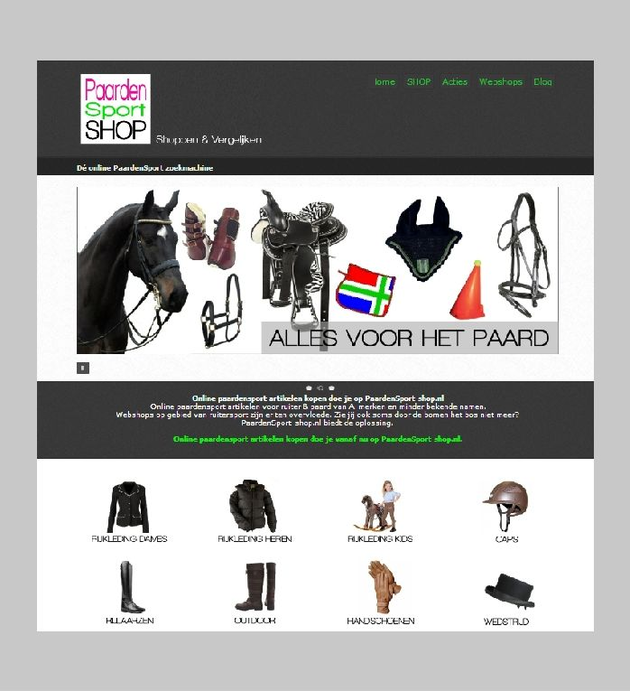 Alle Winkels Online - De leukste winkels Online! Paardensport-shop ...