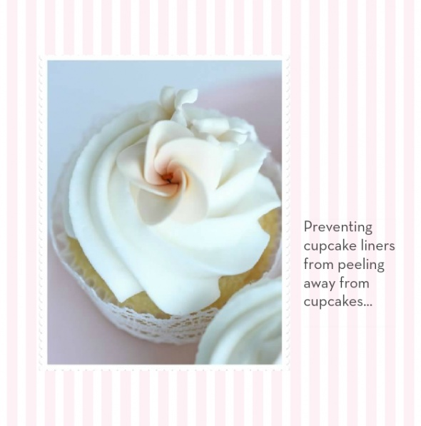 -preventing liners from peeling away from cupcakes