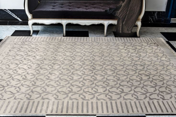 ALIENOR Collection - #sergelesage  A rug with a silky feel and a refined classic look.