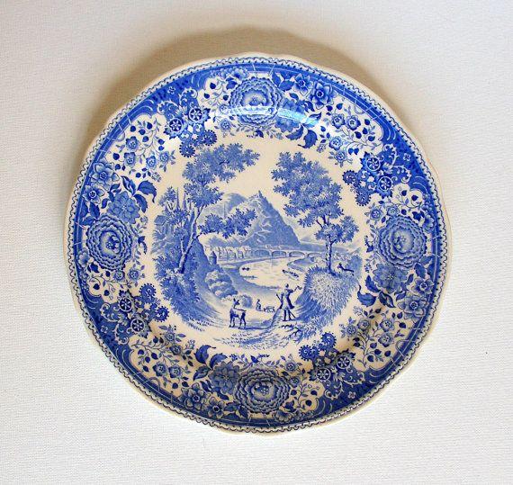 Villeroy u0026 Boch Burgenland Blue Antique Dinner Plates Made in Germany Set  ...