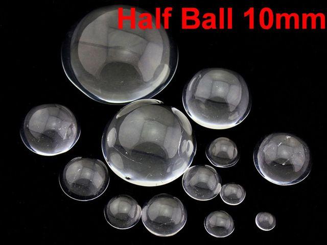 200 Прозрачный Flatback Стеклянные Полусферы Мяч Кабошон 10 мм