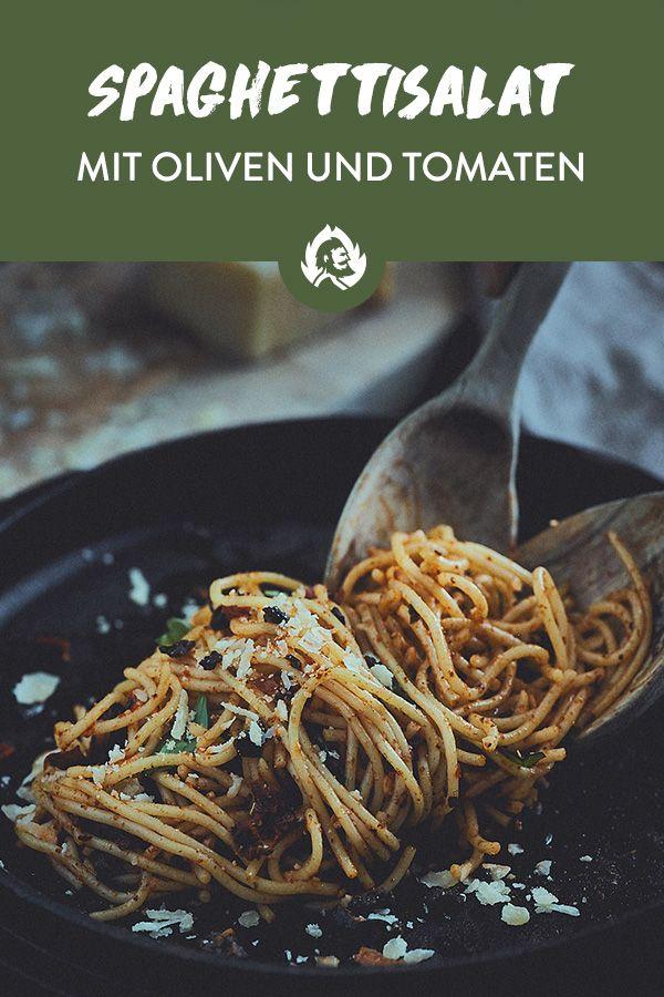 Mediterranean spaghetti salad   – Nudelsalate