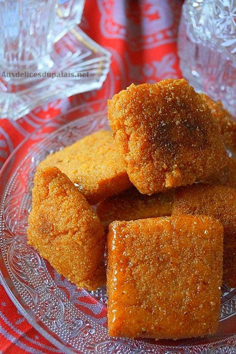 Mbesses au miel gâteau algérien à la semoule