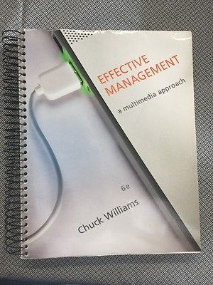 Effective Management by Chuck Williams (2013, Paperback)