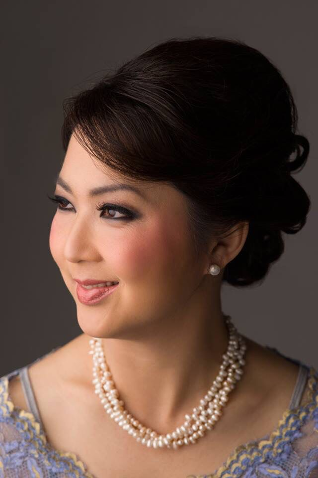 "Hair up with volume.  ""Sanggul"" modern for kebaya"