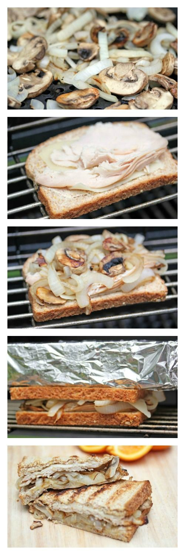 Turkey, Mushroom, Onion & Swiss Grilled Panini