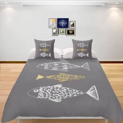 Nautical Duvet Cover Fishes ...