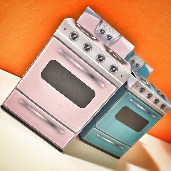 Cucina retro in carta  scatolina 2 colori di zolushka65 su Etsy