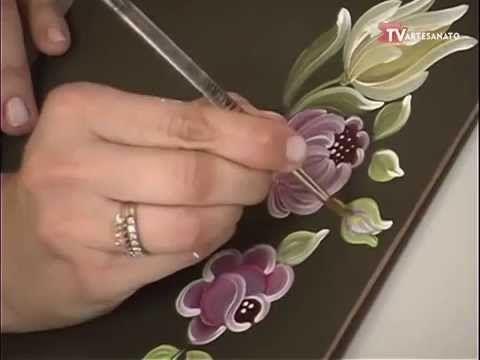 Pintura Gestual Peonias Rosas e Tulipas - YouTube