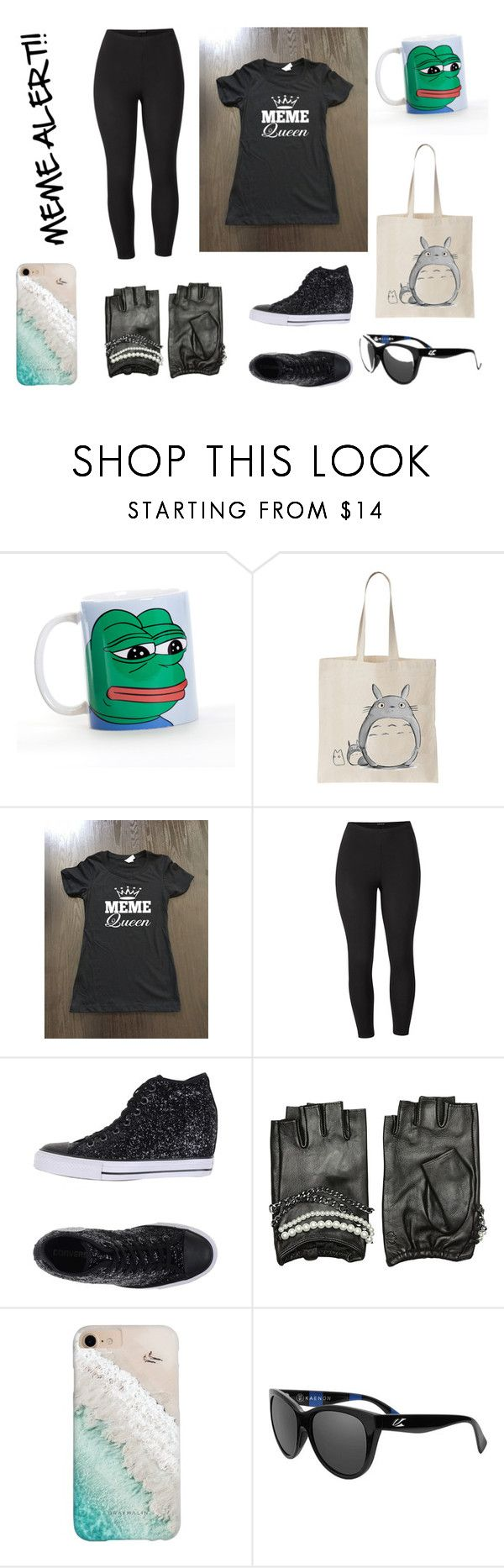 """""""The Meme Lords are Coming!"""" by annabethchasesdaughter on Polyvore featuring Venus, Converse, Karl Lagerfeld, Gray Malin, Kaenon and plus size clothing"""