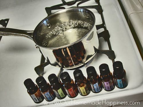 Our Homemade Happiness: Six Natural Air Fresheners that Heal Instead of Hurt- baking soda with essential oils in closet as airfreshener