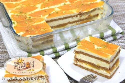FILIPINO Desserts, Snacks and Sweets. MANGO FLOAT recipe