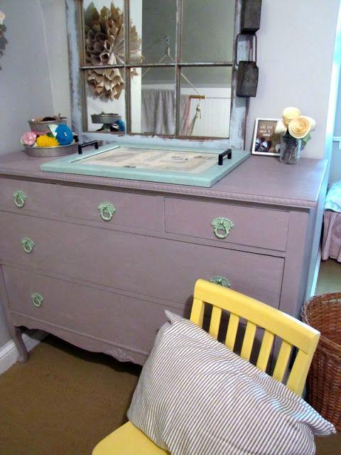 { Camille's  Annie Sloan Purple Dresser }
