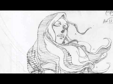 Legend of Korra pencil test and finished animation