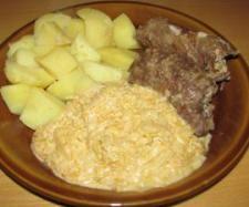 Recept Závitky z roštěné s kysaným zelím po selsku - Recept z kategorie Hlavní jídla - maso