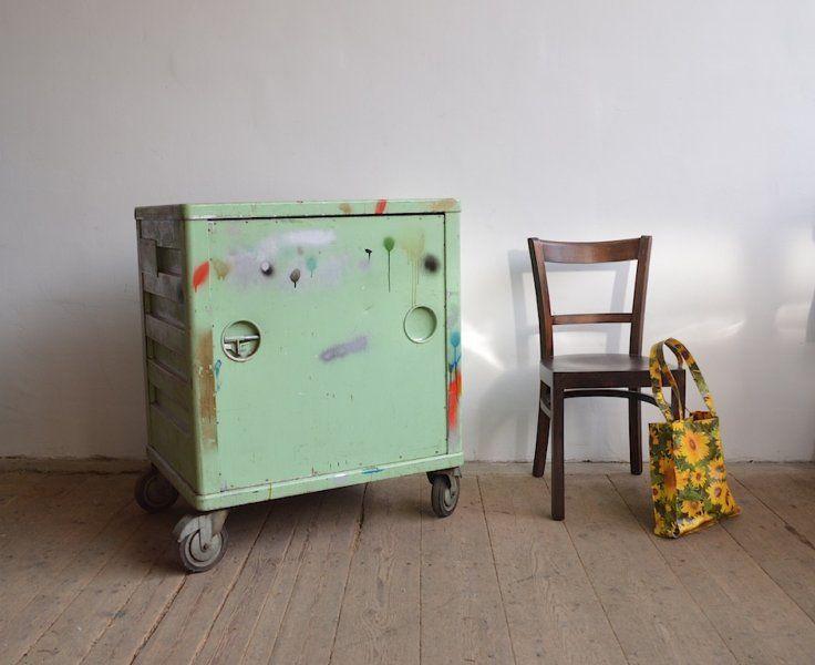 Metal cabinet from an instrument factory |artKRAFT onterior&design