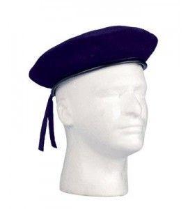 Navy Blue Military Beret