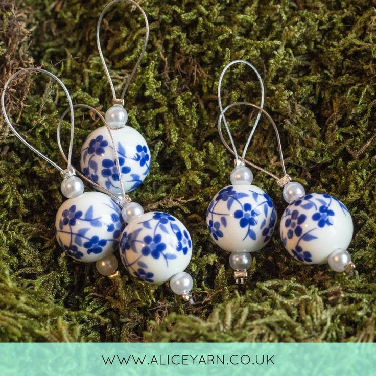Click here to buy beautifully hand crafted stitch markers for knitting and crochet! Never lose your place again!  www.aliceyarn.co.uk