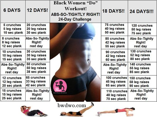 The website is only called black women do workout . Anybody can do this challenge, tho .