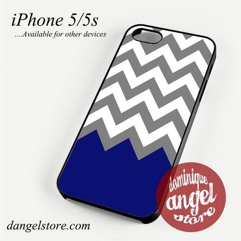 Grey White Blue Navy Chevron Phone case for iPhone 4/4s/5/5c/5s/6/6 plus