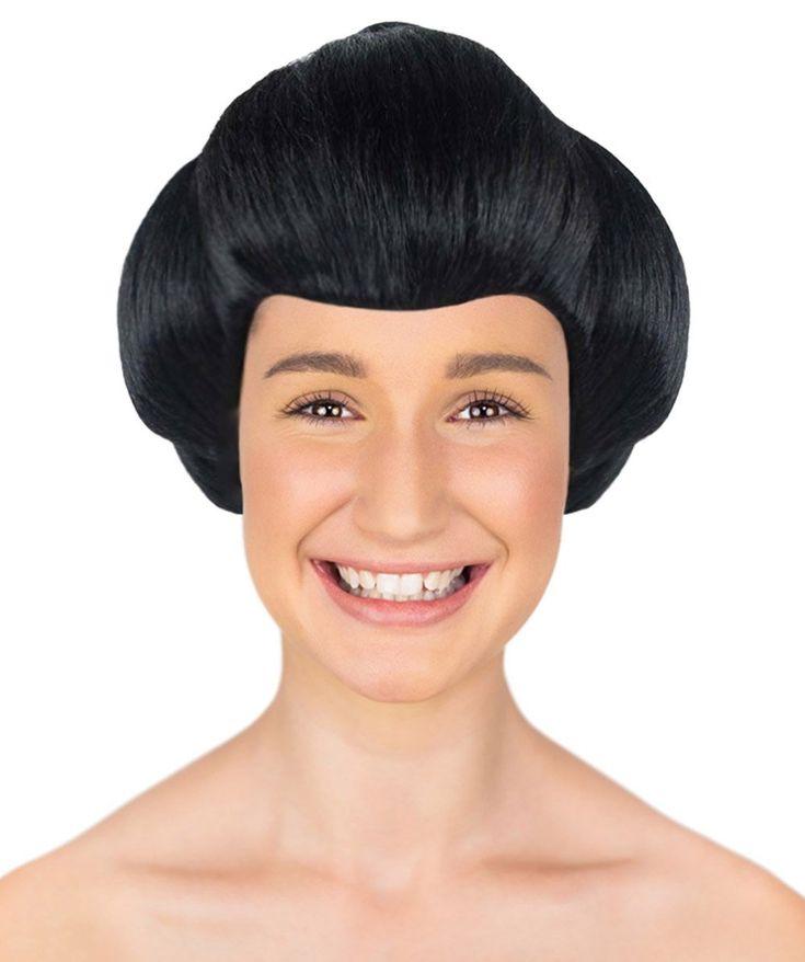 Japanese Geisha Wig   Asian Black Kung Fu Wig   Premium Breathable Capless Cap