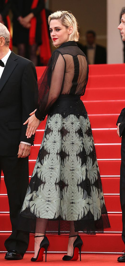 Kristen Stewart wearing Chanel Resort at the Cannes Film Festival 2016, at the premiere of Woody Allen's Café Society.