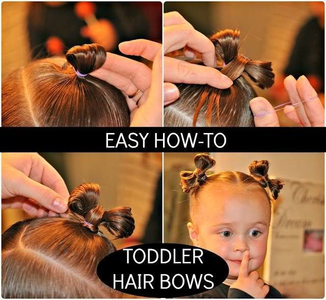 toddler hair bows tutorial. Great idea even for older kids