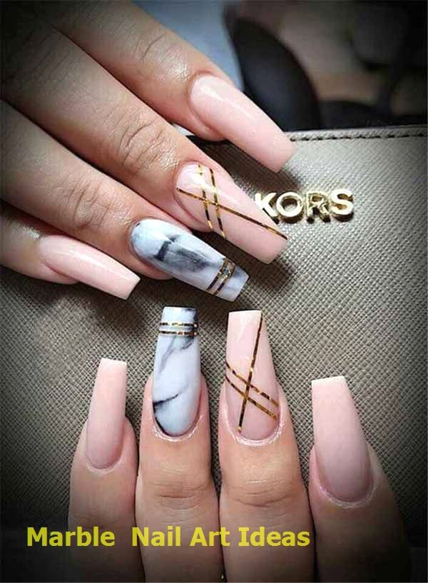 7 Luscious Marble Nail Designs Acrylic for 2019…