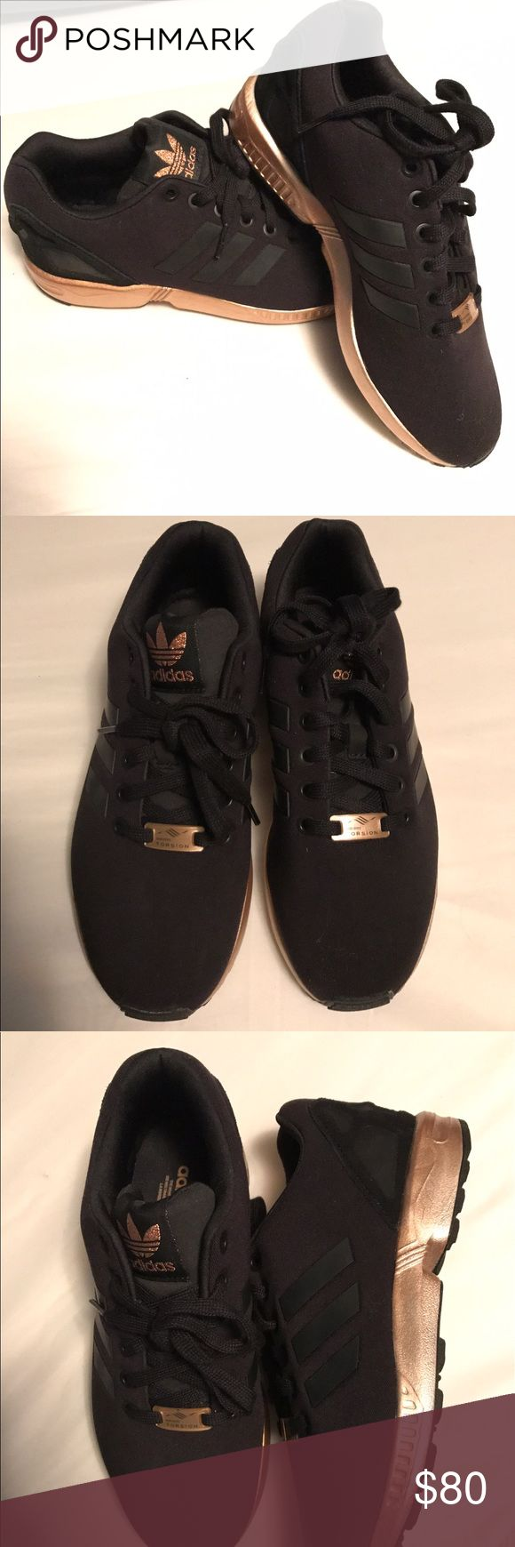 NEW - Copper and Black Adidas Torision FX Flux Copper and black Adidas Torsion ZX Flux - worn once *will not come in original shoe box* shoe runs slightly big, Im usually a 7 and fit in the 6.5 adidas Shoes Sneakers
