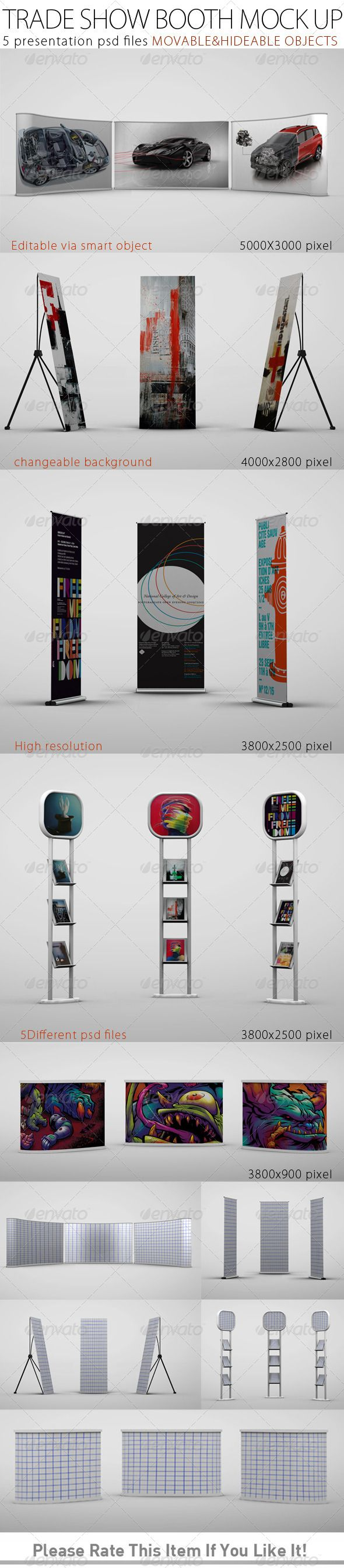 Exhibition Booth Mockup Psd : Trade show booth mock up graphicriver