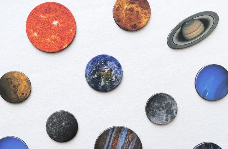 Aladin Universe Space Solar System Planets Fridge Magnets Set #Aladin