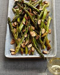 ♅ Asparagus- I made this without the almonds and it was good enough that my two year old was asking for more! Didn't do the almonds part, but that would be even better.