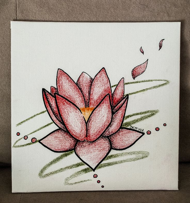 Lotus flower - Pen and Pencil Sketch