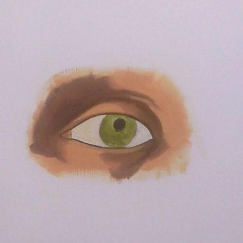 HU19 : Peindre un oeil réaliste à l'Huile