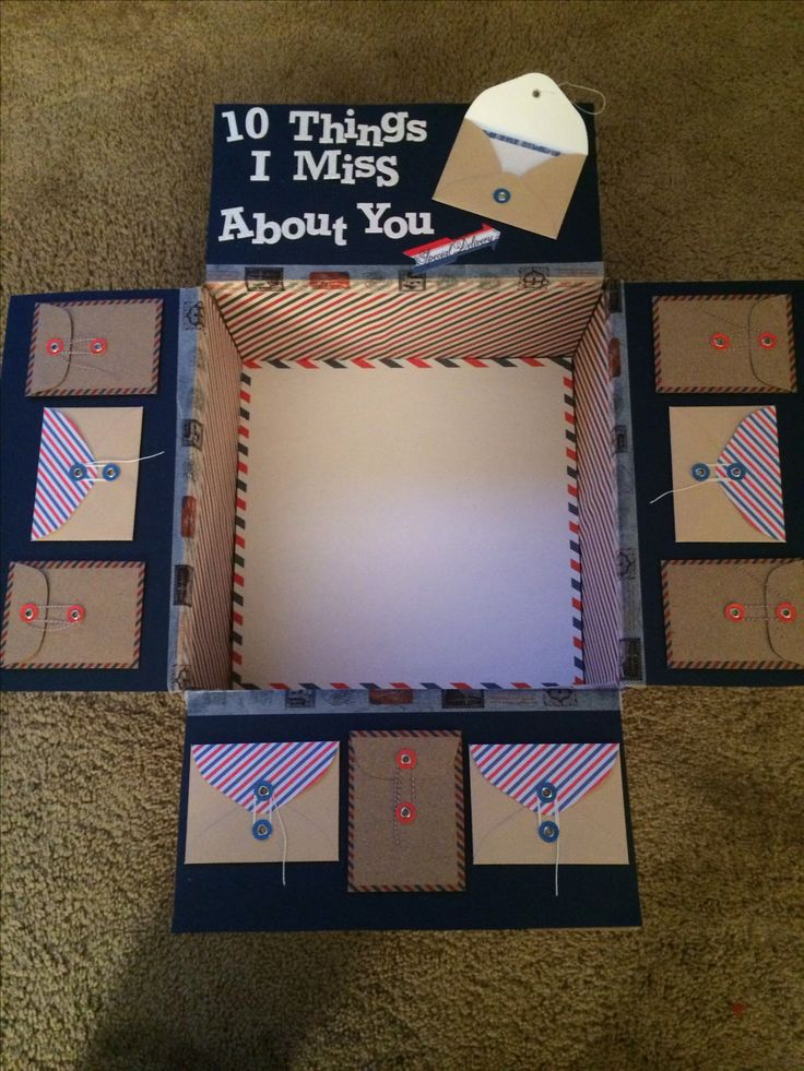 I made this one for my sailor on deployment. Personal touches to a care package can mean so much more.