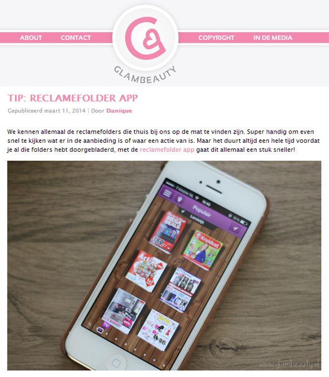 Bekijk het hele artikel op http://glambeauty.nl/tips/tip-reclamefolder-app/